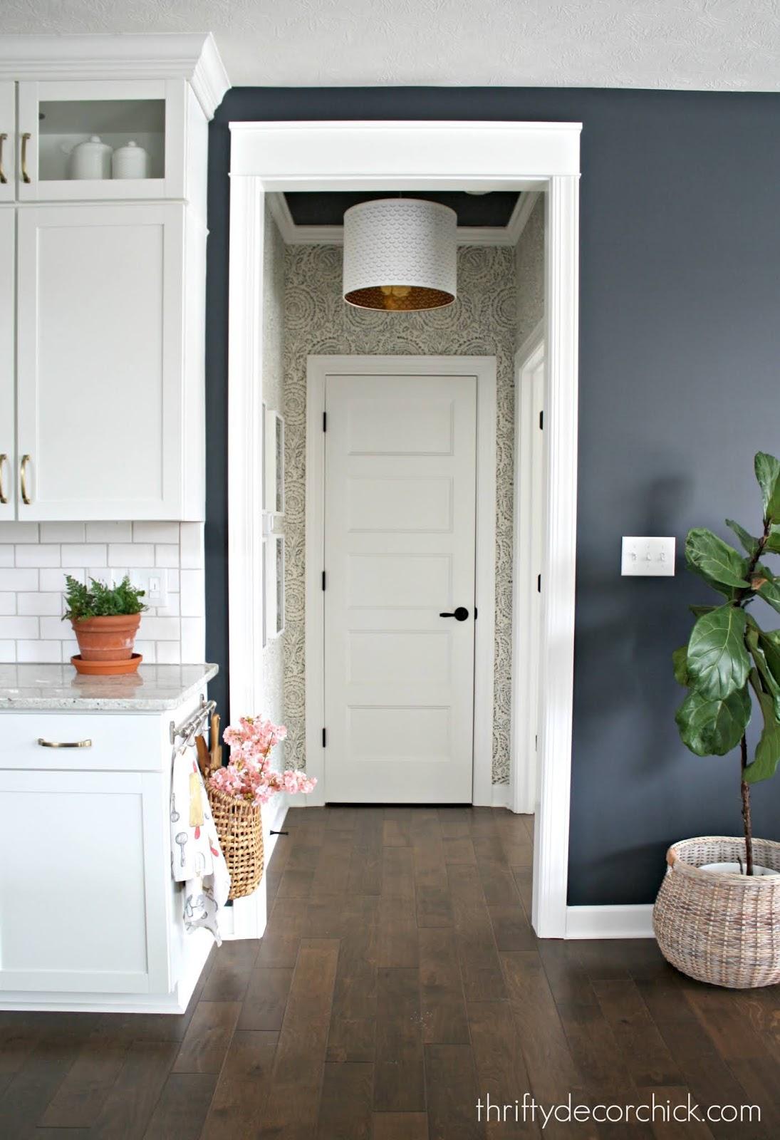 Installing farmhouse trim around doors easy way