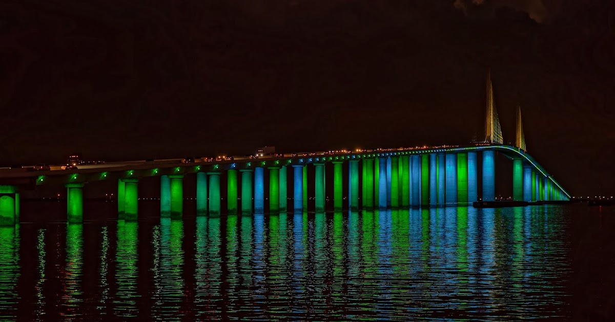 BAY POST INTERNET: Sunshine Skyway Bridge's New Light Display