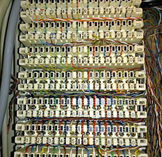 Τηλεφωνικές κλέμες για διανεμητή ή κέντρο.