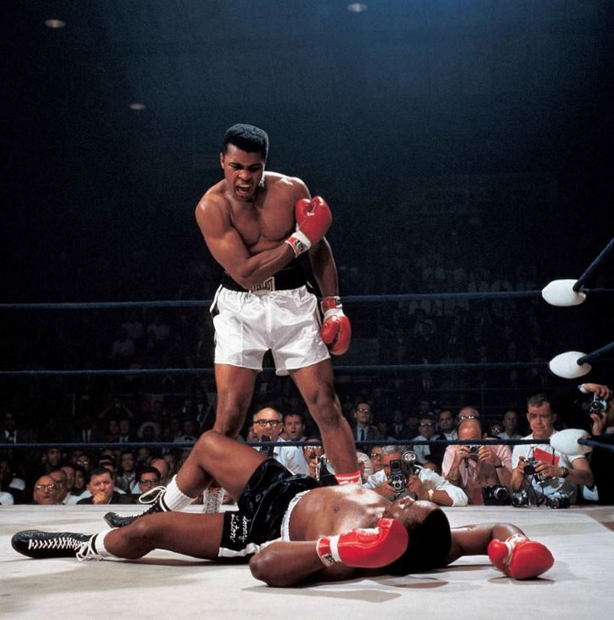 #43 Muhammad Ali Vs. Sonny Liston, Neil Leifer, 1965 - Top 100 Of The Most Influential Photos Of All Time