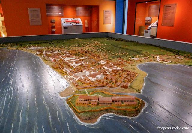 Maquete de Panamá Viejo, primeira capital do Panamá