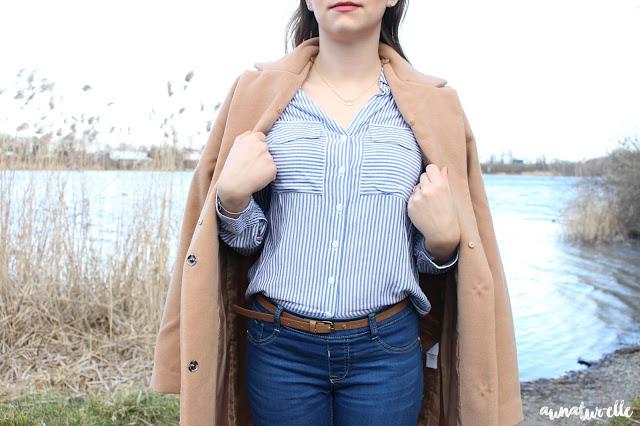 chemise femme à rayure bleu et blanc