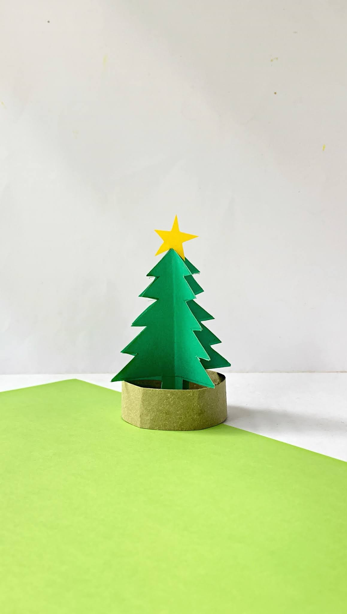 Fun And Easy 3d Paper Christmas Tree Craft For Kids To
