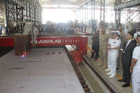 تصنيع اول سفينة حربية مصرية