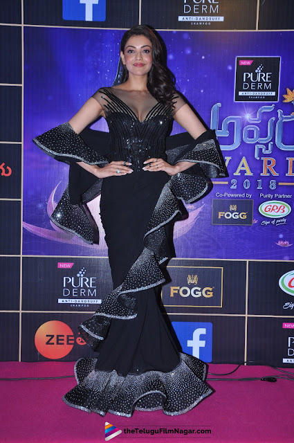 Kajal Agarwal looking absolutely Stunning At Zee Telugu Apsara Awards 2018 Red Carpet