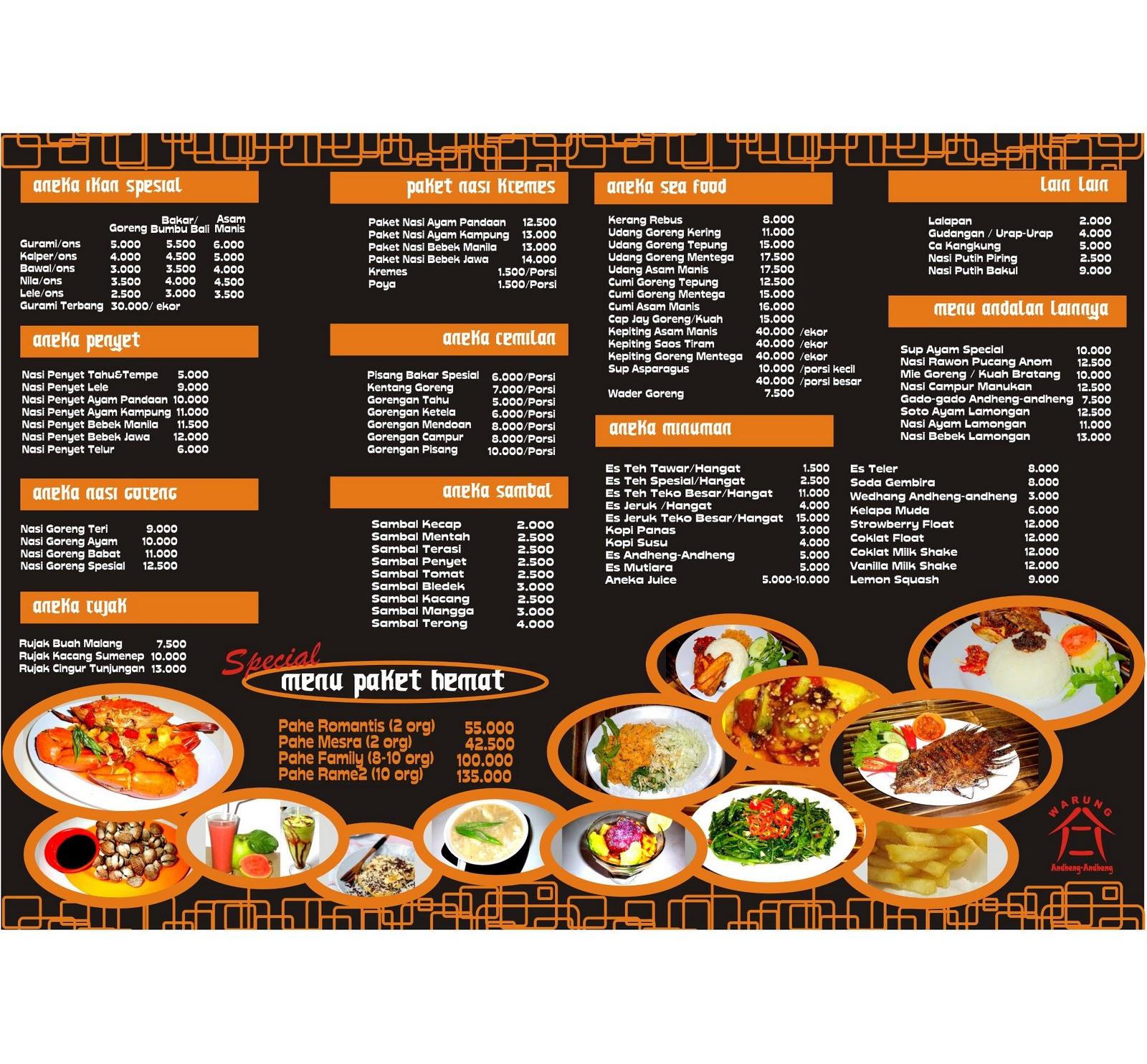 Catatan Kuliner Saya List Menu Makanan Di Jimbaran Bandungan Semarang