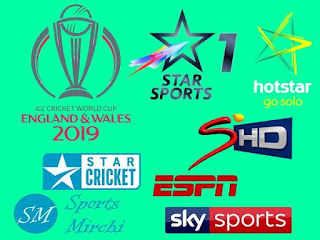 icc world cup 2019 tv channel list