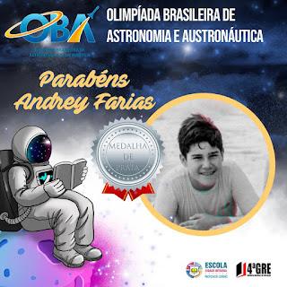 Estudantes da 4ª Gerência de Educação conquistam medalhas na Olimpíada Brasileira de Astronomia e Astronáutica