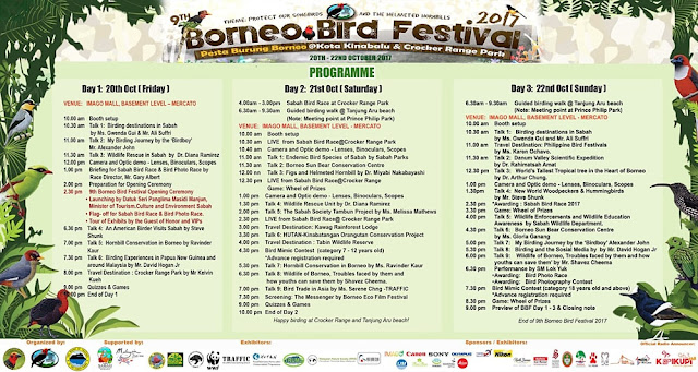 Program Borneo Bird Festival 2017
