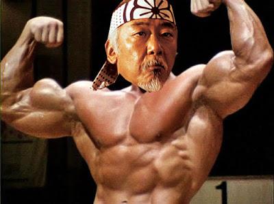 Arnold Schwarzenegger maestro miyagi