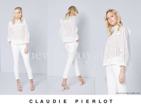 Princess Mette-Marit wore Claudie Pierlot Bird Top
