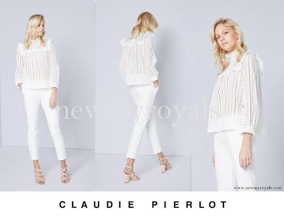 Princess Mette-Marit wore Claudie Pierlot Bird Top