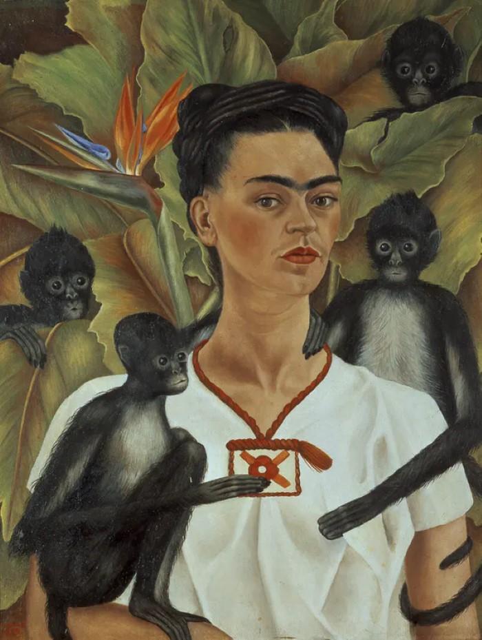 Автопортреты Фриды Кало с обезьянами