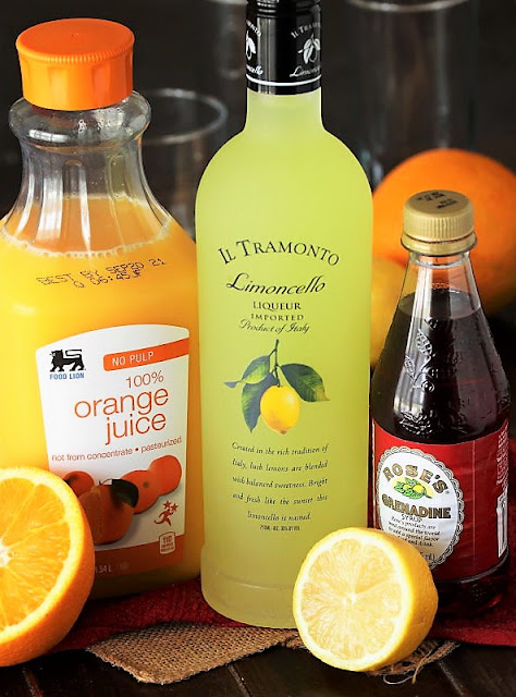 Limoncello Sunrise Cocktail Ingredients Image