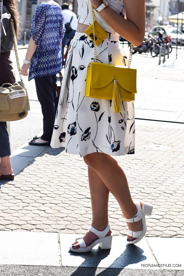 Hot to wear cropped top and a midi skirt, street style summer fashion inspiration; Ljetni stajling za inspiraciju - ulična moda, Lucija Lisica