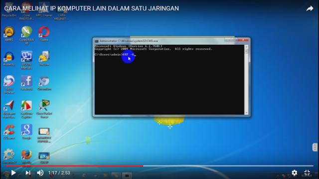 Cara Melihat IP Komputer yang Aktif Dalam Satu Jaringan