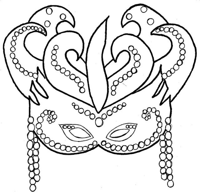 Tag: desenhos de máscaras de carnaval para colorir
