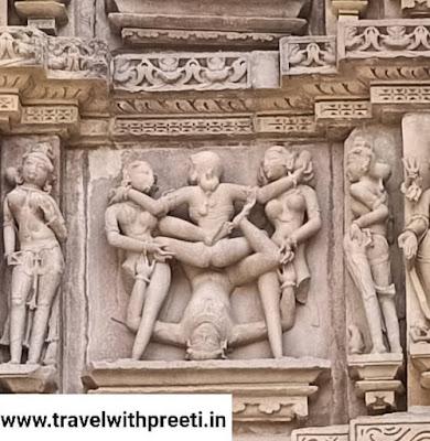 खजुराहो के मंदिर में कामुक मूर्तियां क्यों बनाई गई ?
