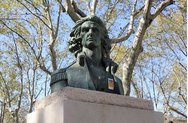 Bust Josep Moragues pla de Palau Barcelona
