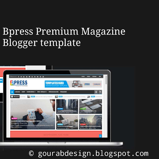BPress Blogger Template image