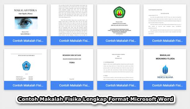 Contoh Makalah Fisika Format Microsoft Word