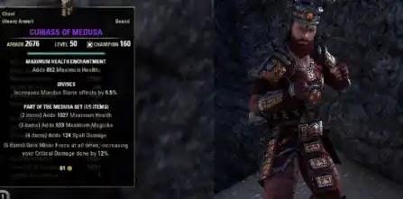 The Medusa Set - Heavy Armor,Jewelry,Weapons