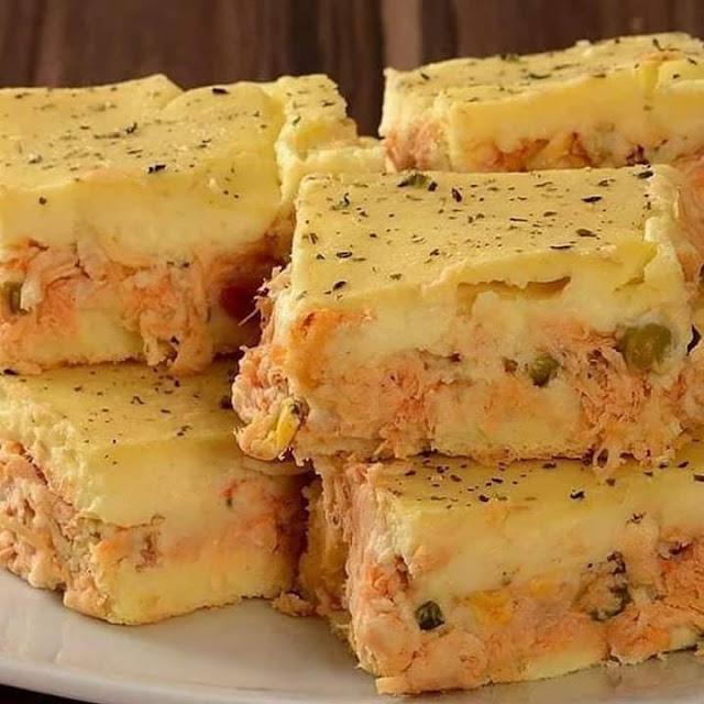 Torta Cremosa de Batata com Frango