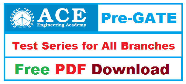 PDF] ACE Pre-GATE Test Series for All Branches - Engineers