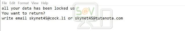 Skynet45@cock.li Combo (Ransomware)