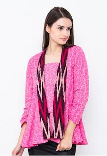Baju Kebaya Etnik Remaja Pink