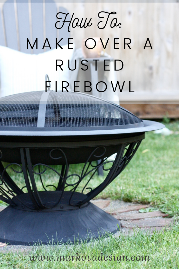 How To Makeover A Fire Bowl Markova Design