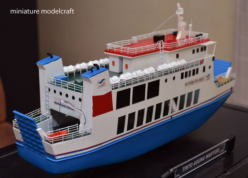 jual miniatur kapal ferry kmp muria bergaransi