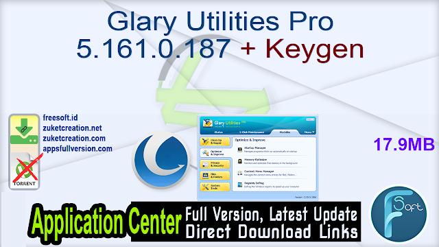 Glary Utilities Pro 5.161.0.187 + Keygen