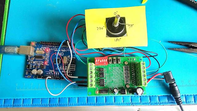 chip piko, Cara Menggunakan TB6560 Stepper Motor Driver Arduino