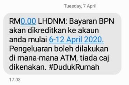 tarikh bayaran duit bpn bsh lhdnm 2020