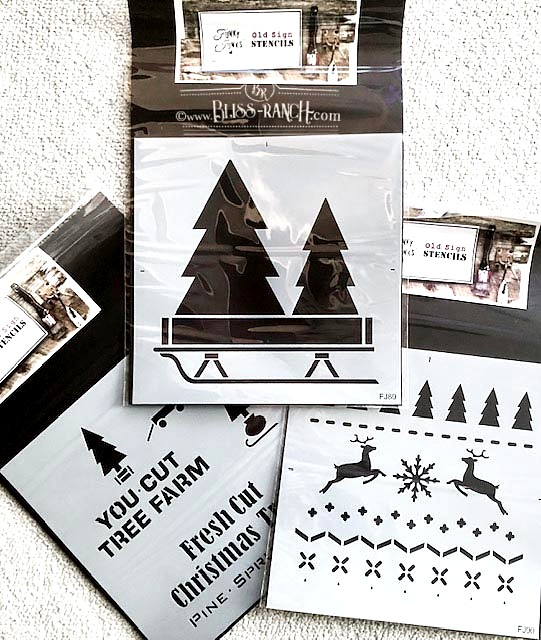 Christmas Designs Old Sign Stencils Bliss-Ranch.com