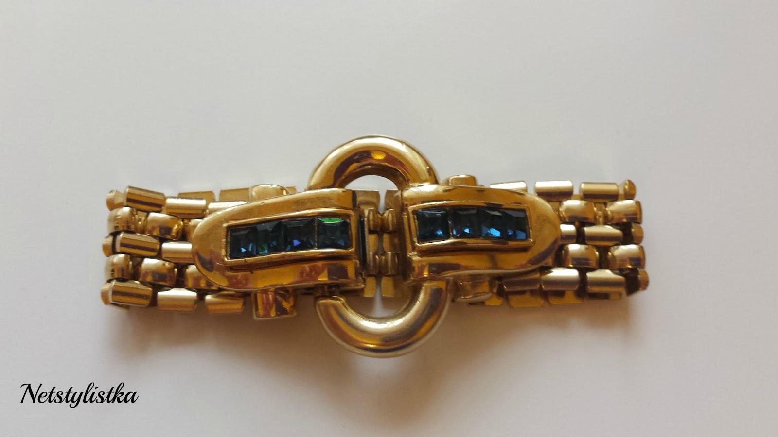 Givenchy vintage biżuteria, złota bransoletka Givenchy, gdzie kupować biżuterię vintage