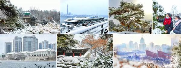 Pyongyang in first snowfall, December 3, 2020