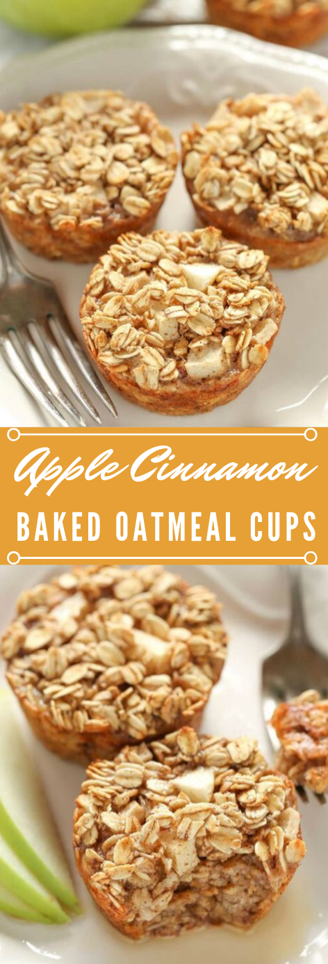 APPLE CINNAMON BAKED OATMEAL CUPS #apple #cinnamon #desserts #cakes #easy