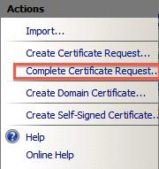 Completar solicitud de certificado