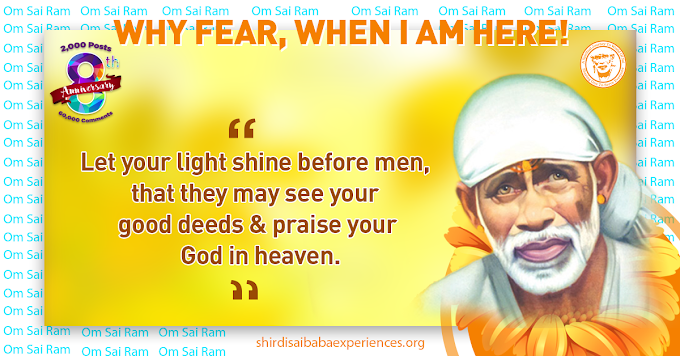 Sai Has Shown His Presence And Helped Me In Many Ways