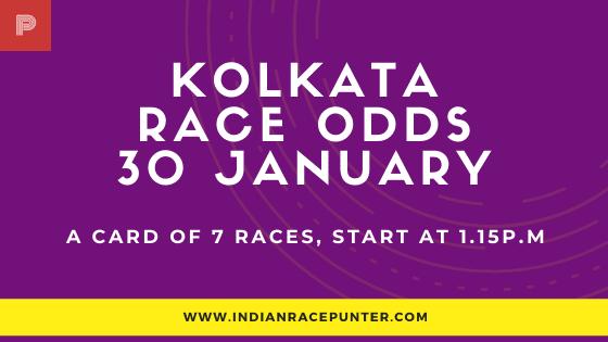 Kolkata Race Odds 30 January