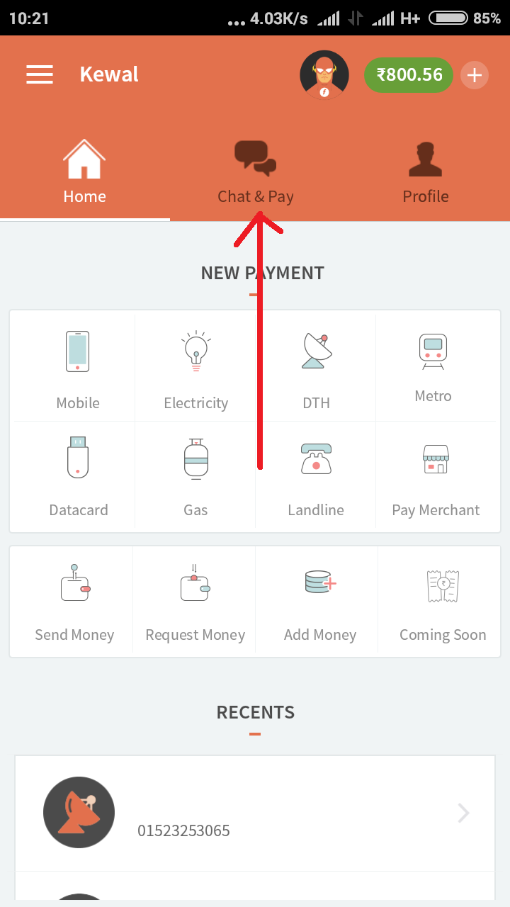 How to Transfer Freecharge Wallet Balance from One Account to