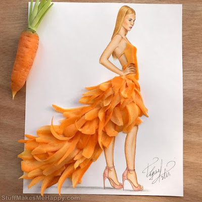Outstanding Fashion Dresses Made Out of Food by Illustrator Edgar ArtiS