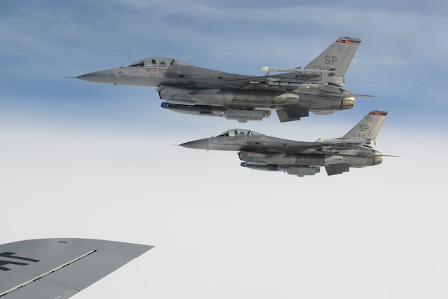 US deploys F-16 Estonia Polonia