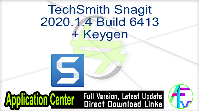 TechSmith Snagit 2020.1.4 Build 6413 + Keygen