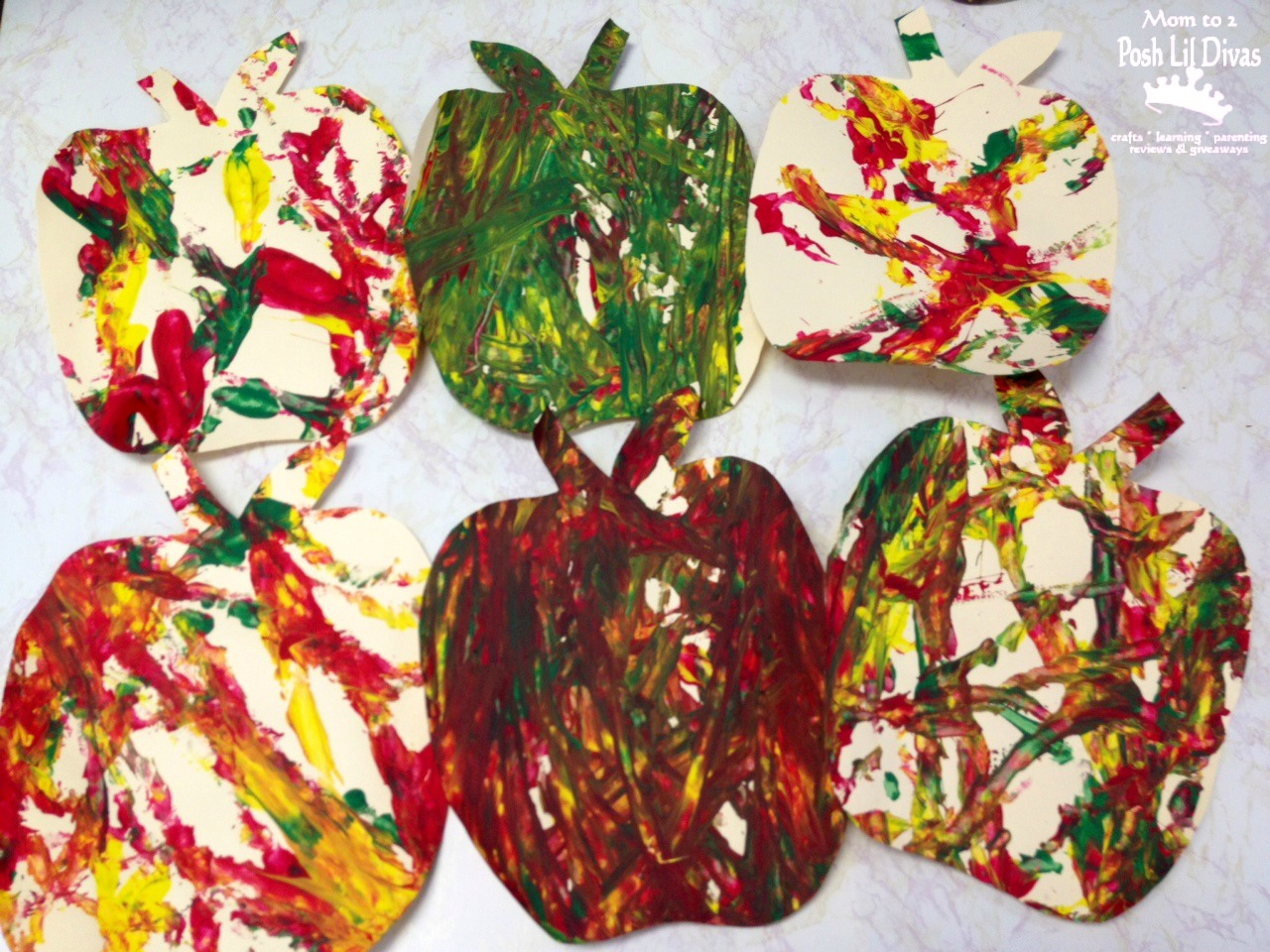 Apple Roll Painting