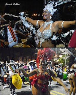 Desfile Inaugural del Carnaval. Uruguay. 2017.  Comparsa Senegal