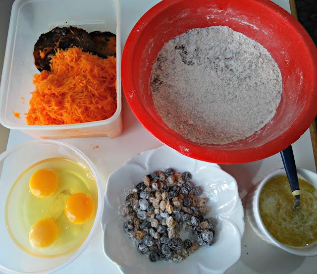 Ingredientes para el budín