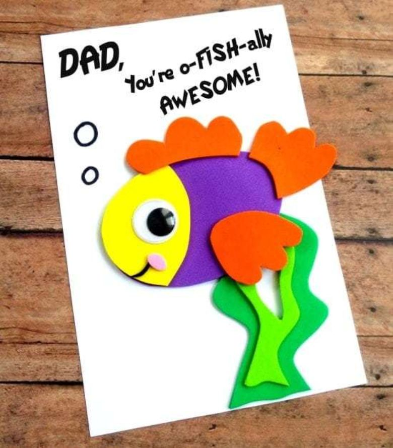 Father's Day Fish Card - you are o fishally awesome